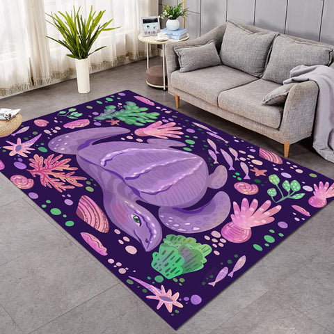Purple Turtle SW2521 Rug