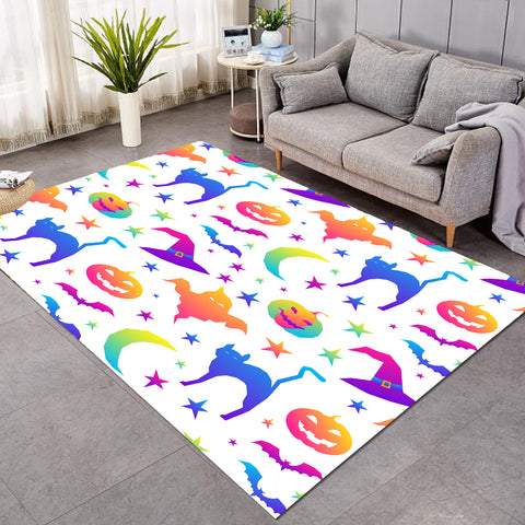 Halloween Theme Bright SW1748 Rug