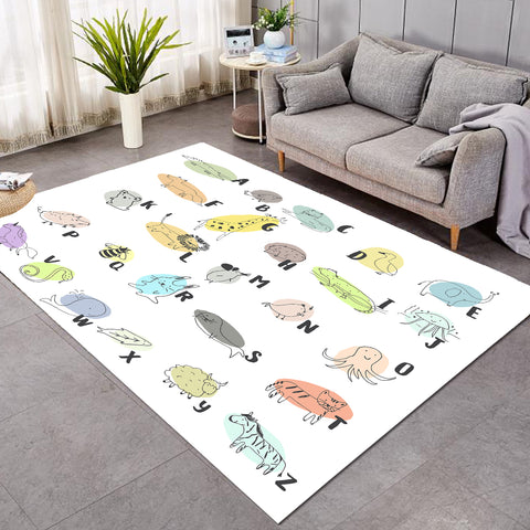 Image of Simple Animal Alphabet SW1708 Rug