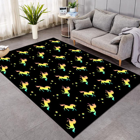 Image of Prancing Unicorn SW1849 Rug