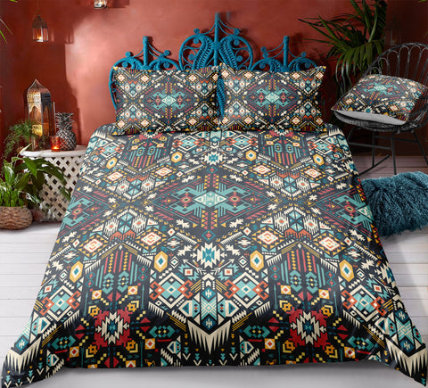 Image of Indian inspired - Iroquois Aztec Bedding Set - Beddingify
