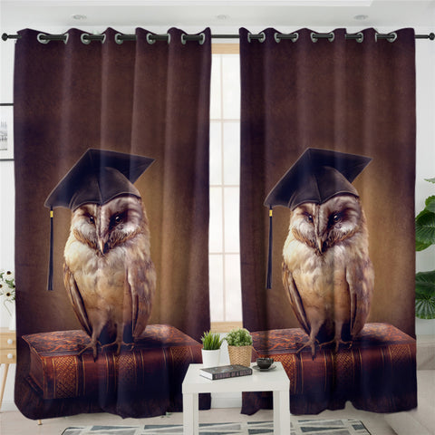 Image of Owl 2 Panel Curtains