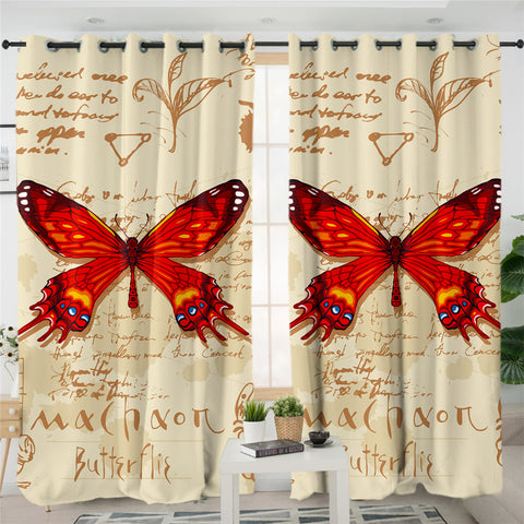Machaon Butterfly SWCG1558 2 Panel Curtains