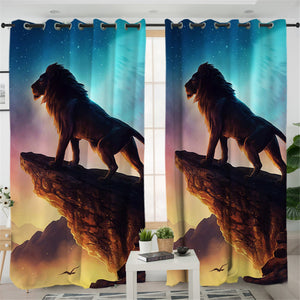 Holly Tiger 2 Panel Curtains