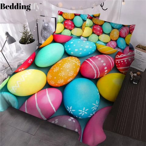 Colorful French Macaron Bedding Set