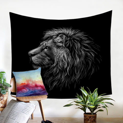 Image of B&W Lion SW2492 Tapestry