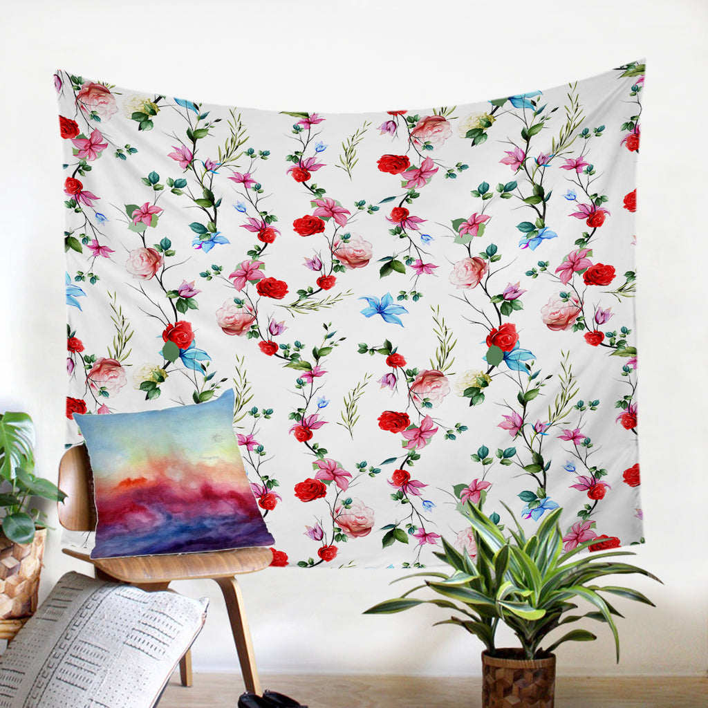 Red Flowers SW2321 Tapestry