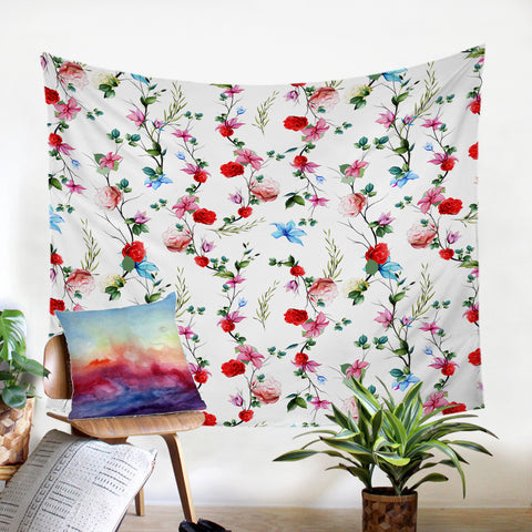 Image of Red Flowers SW2321 Tapestry