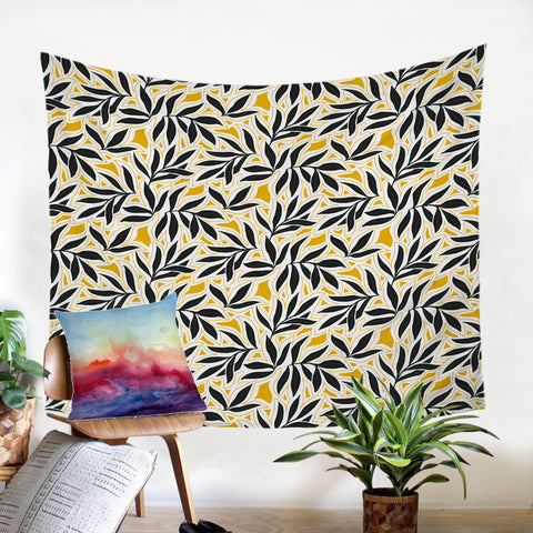 Image of Black Leaves SW2246 Tapestry