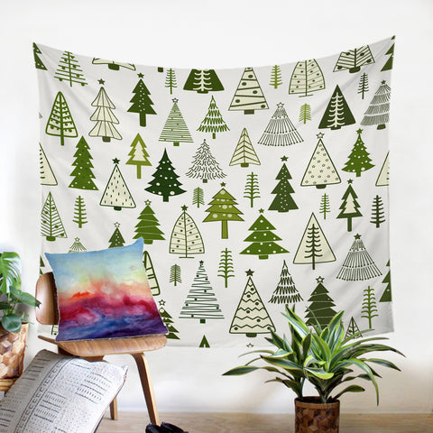 Image of Pine Pattern SW2336 Tapestry