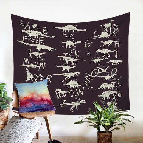 Image of Dino Alphabet SW1709 Tapestry