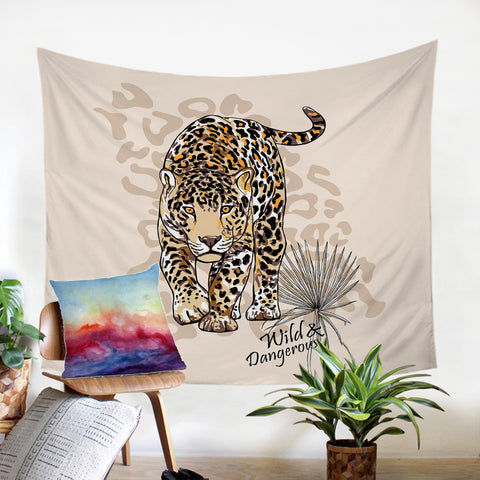 Image of Wild Leopard SW2519 Tapestry