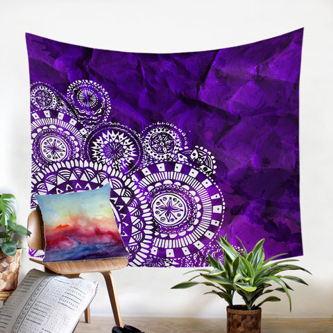 Image of Purple Mandalas SW1887 Tapestry