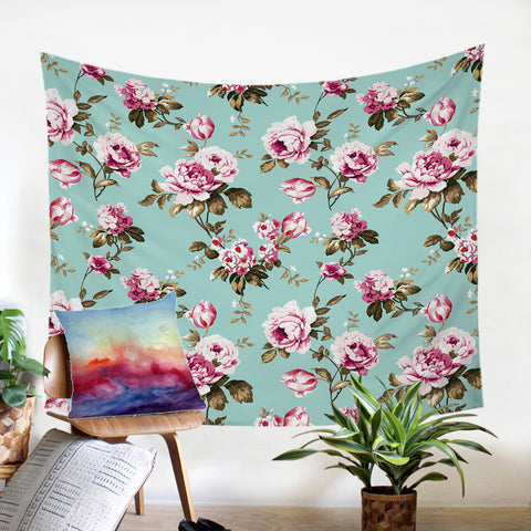Image of Pink Roses SW2242 Tapestry