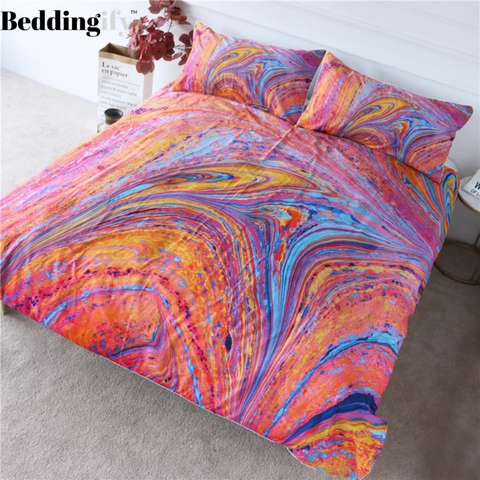 Image of Colorful Marble Bedding - Beddingify