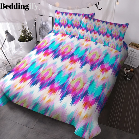 Image of Colorful Striped Bedding Set - Beddingify