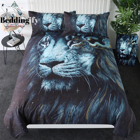Image of Darkness Lion Bedding Set - Beddingify