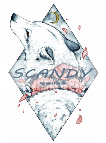 Wolf Skull by Scandy Girl Bedding Set - Beddingify