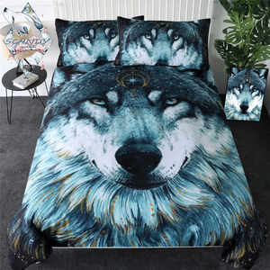 In The Darkness Wolf by Scandy Girl Bedding Set - Beddingify