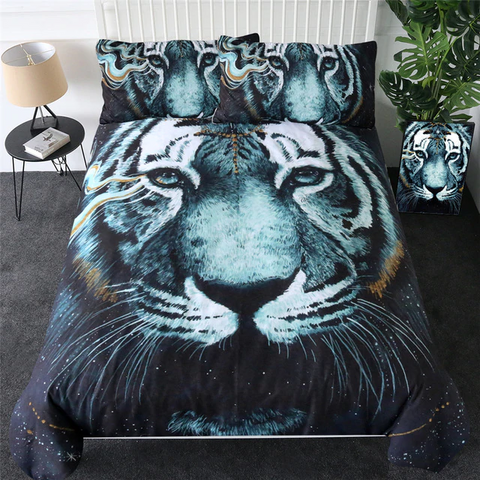 In The Darkness Tiger by Scandy Girl Bedding Set - Beddingify