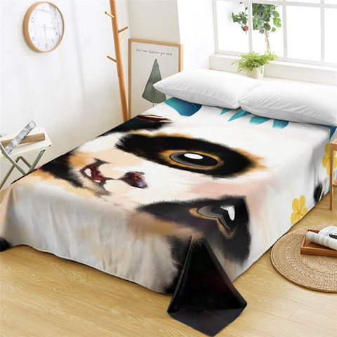 3D Panda Cub Flat Sheet - Beddingify