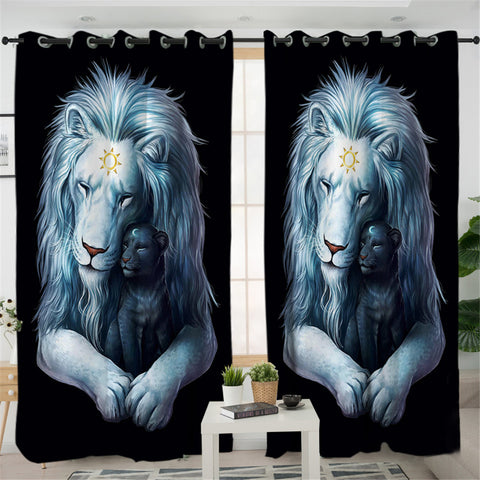 Tiger Family 2 Panel Curtains