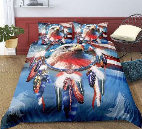 Dreamcatcher Eagle Bedding Set - Beddingify
