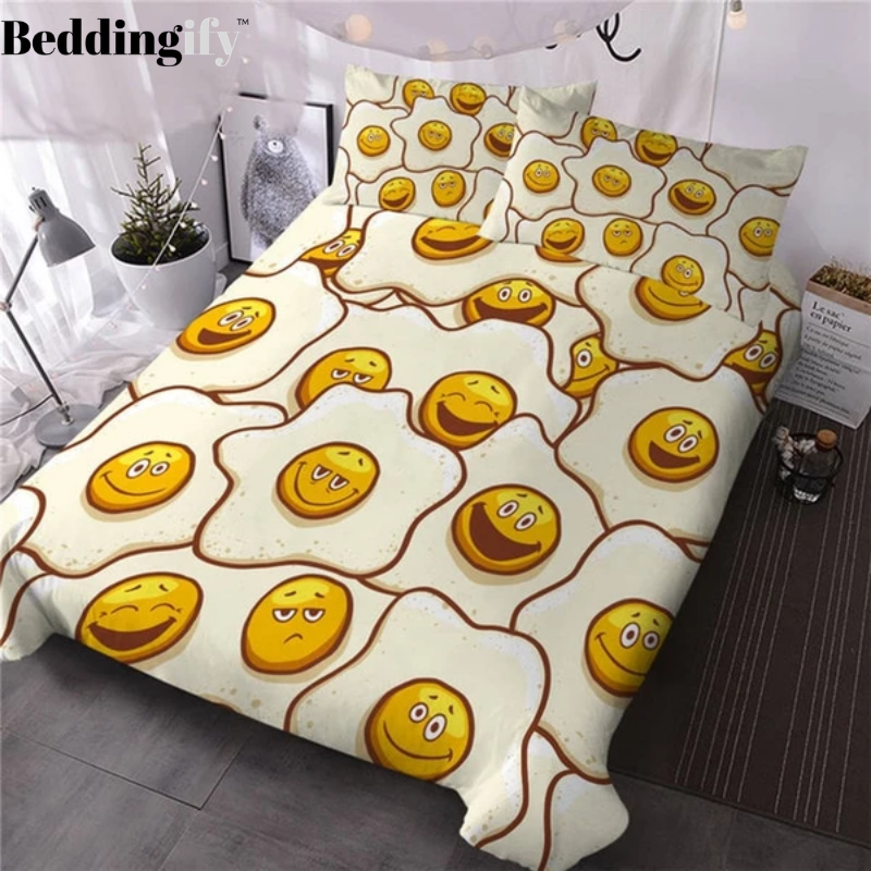 Cute Fried Eggs Bedding Set - Beddingify