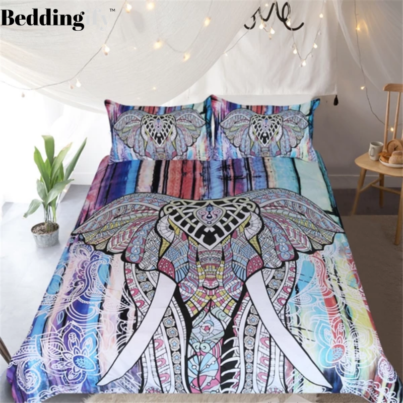Mandala Elephant Bedding Set - Beddingify
