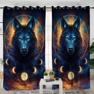 Holy Wolf 2 Panel Curtains