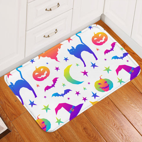 Halloween Theme Bright Door Mat