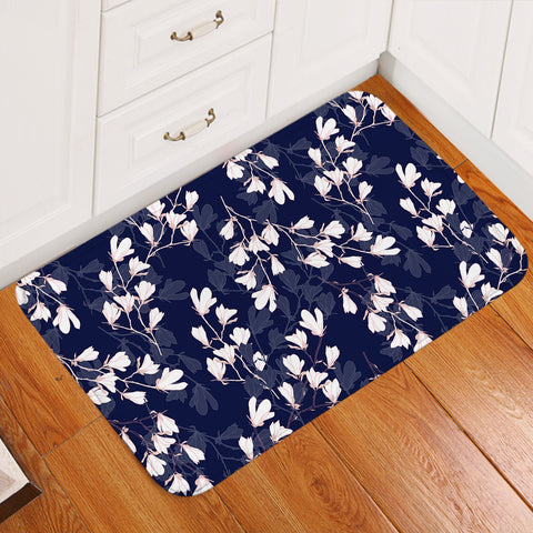 Image of White Blossom SW2241 Door Mat