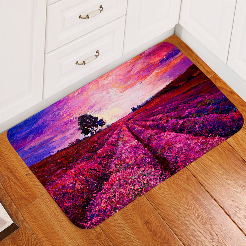 Lavender Field SW2251 Door Mat