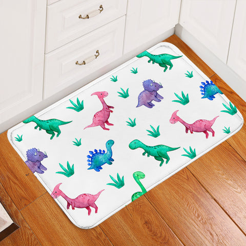 Image of Toy Dinosaurs White Door Mat