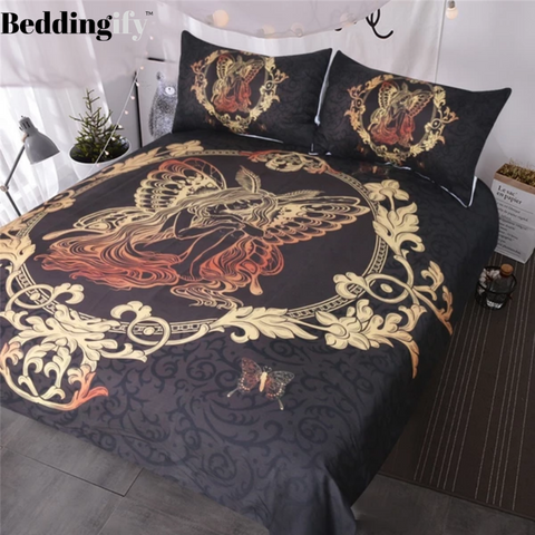 Fairy Butterfly Girl Bedding Set - Beddingify