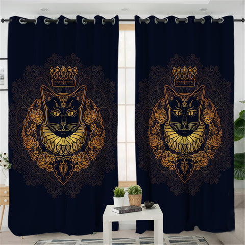 Image of King Of Cat 2 Panel Curtains