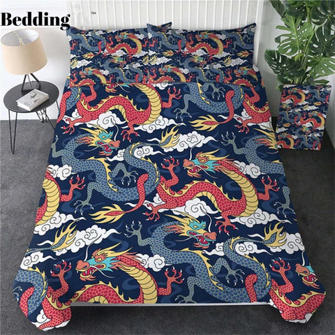 Flying Dragon Bedding Set