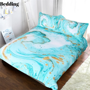 Girly Marble Bedding Set