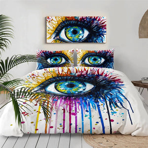 Rainbow Fire Eye By Pixie Cold Art Bedding Set - Beddingify