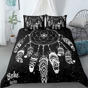 Boho Dreamcatcher Cosmic Bedding Set - Beddingify