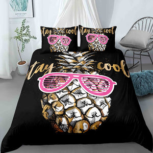 Stay Cool Pineapple Bedding Set - Beddingify