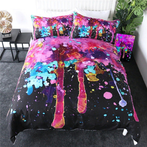 Pink Bubble By Brizbazaar Bedding Set - Beddingify