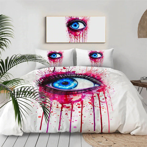 Red Eye By Pixie Cold Art Bedding Set - Beddingify