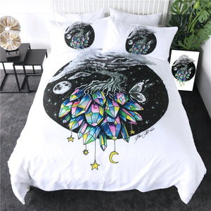 Moon Tree Of Life By Pixie Cold Art Bedding Set - Beddingify