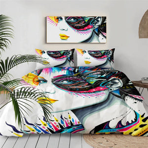Girl Face By Pixie Cold Art Bedding Set - Beddingify