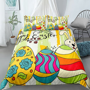 Colorful Easter Eggs Bedding Set - Beddingify