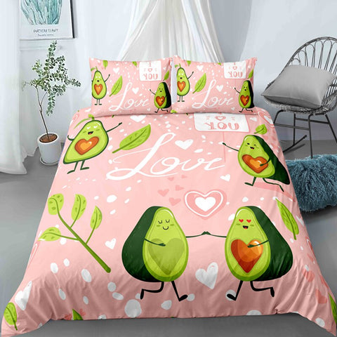 Love Avocado Bedding Set - Beddingify