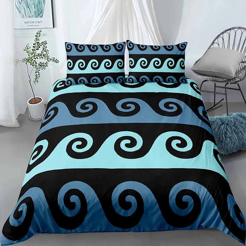 Decorating Wave Lines Bedding Set - Beddingify