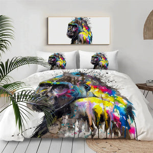 Monkey Kong By Pixie Cold Art Bedding Set - Beddingify