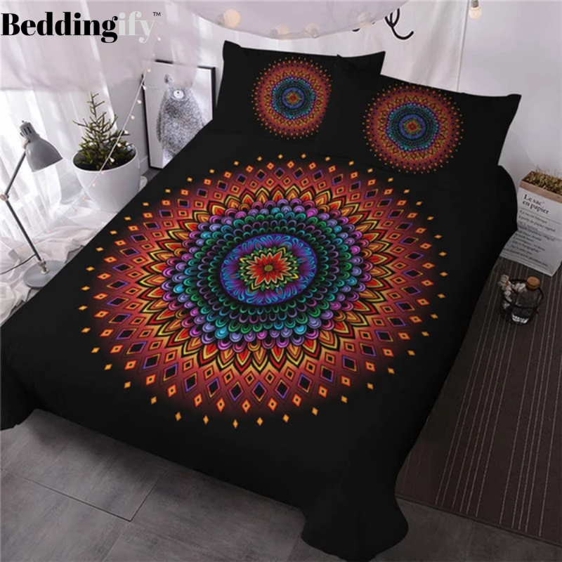 Floral Mandala Bedding Set - Beddingify
